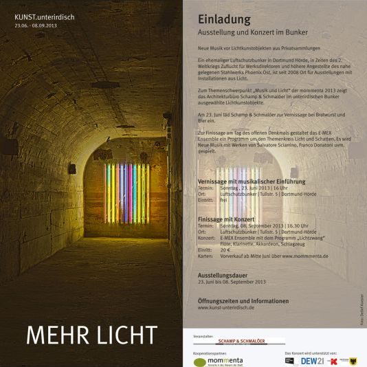 Referenz Einladung Ausstellung Detlef Koester Fotograf Dortmund